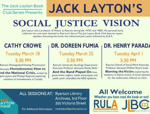 Jack Layton's Social Justice Vision