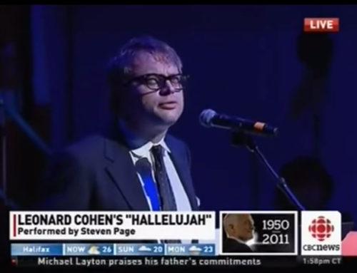 [VIDEO] Jack Layton Funeral – Steven Page sings Hallelujah